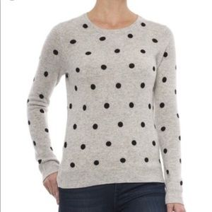 Cynthia Rowley 2-Ply Cashmere Polka Dot Sweater